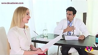 Needy wife is looking for satisfaction of the family doctor