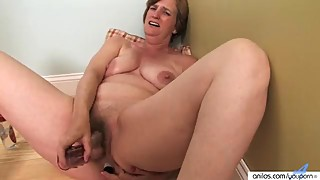 Horny housewife, mature, masturbation