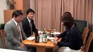 The japanese drunk wife husband friends