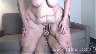 The boy cast his wife, amber connor, 56y. on wide hips gilf