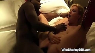 Sexy german slut wife creampie anal huge black cock, chubby