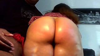 Spanking on my big tits latina wife, thick, juicy, pink pussy. spanish ass
