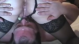 Position of cuckold husband eats channels wife fucks with bull.