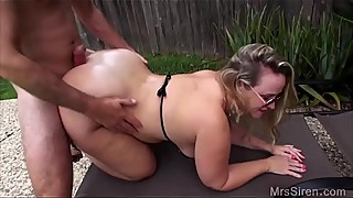 Wife fucks her boytoy in the pool
