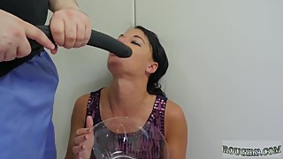 Bondage, anal, gangbang, wife, and a leather-and-bound, fucking, painful, and brutal