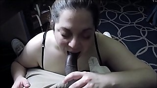 Big black cock in her mouth, why he smokes blunt