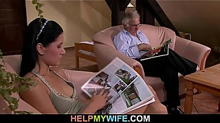 Change the surprise to the young wife sexy