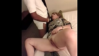 Wife whore sucking and fuck with young black man