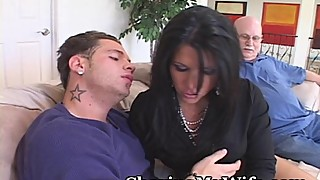 Older wife gets a new cock