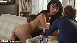 Asian wife gets a big surprise!
