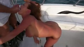 Young wife blowing husbands friend in the middle of the next party (sperm)