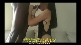 Asian wife big black cock in hotel