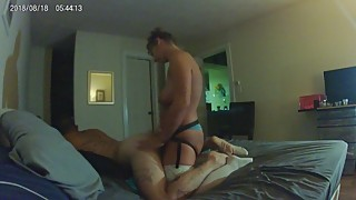 Pt. 1 hot woman curvy bent husband the fucking of his ass, with a new big black cock