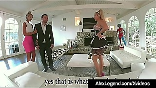 French maid savanna style fuck with her husband alex legend amp_ women!