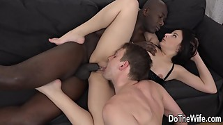 His wife, elisa takes big black cock anally when you are ready to cuckold licking pussy