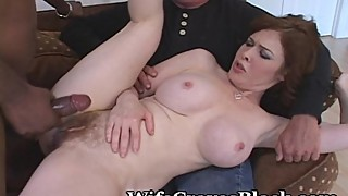 Creamy white pussy shared with a black lover