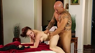 Female surprise massage