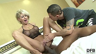 Mature blond wife cheating husband black men