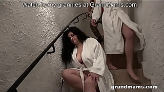 Old and young threesome mom anal hoes