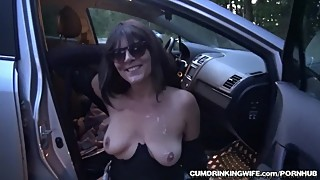Slutwife marion gear 20 strangers in rest area