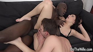 Wife need black my cock in her mouth and her while the guy licks the pussy of her
