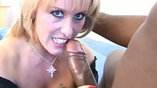 The giving of a milf housewife fucked by hung black cock in black lingerie