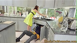 Big black cock craving housewife loves three