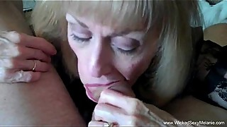 Cuckold granny is addicted to sperm
