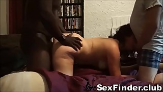 Husband films younger girls wife having sex with a total stranger came up to them.