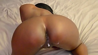 Curvy indian wife riding dick and taking it from behind
