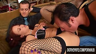 Woman cheyenne jewel is based on cuckold hubbys back as another man plows the