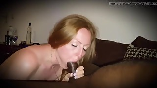 Redhead wife fucks a big black cock while husband records