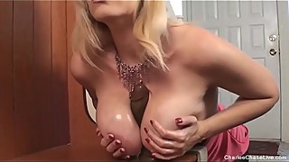 Hot milf star chase, as the black dildo sex