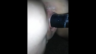 Pawg wife pov with big black cock dildo