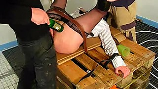 Amateur wife fisted by two builders
