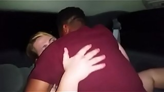 Sharing my milf wife is back in the car, interracial fucking