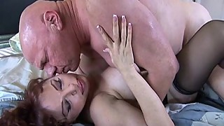 Super hot mature redhead owner of dick like a pro