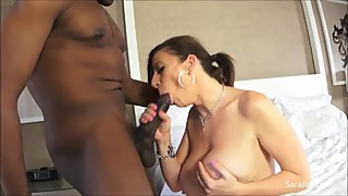 Mega horny cheating wife sara jay fucks the cum out of that big black dick!