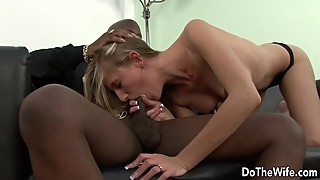 Blonde wife aspen blue country, she would big black cock in front of the happy cuckold