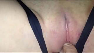 Creampie wife cuckold to keep the sperm after date panties
