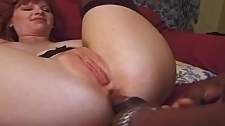 Black cock deep in her ass in magic