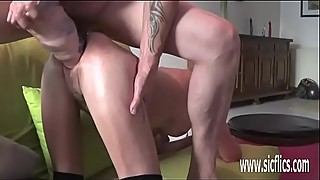 Xxl dildo amateur wife double fisting and shit