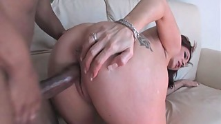 Brittany blaze bends over to him a black cock