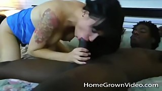 Big tit wife cheating on her husband with big black cock