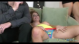 Man and wife fuck babysitter 351