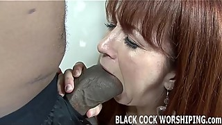 Black cock in the ass with stuffing