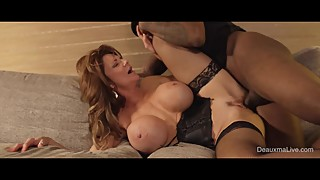 To trick a man deauxma gets fucked by the room service while her husband is gone!