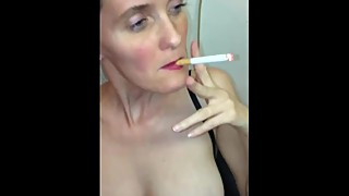 German amateur homemade fucking my wife's pussy hard with the smoke