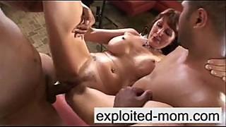 Plump milf 2 big black cocks at the same time, in different races, among the three people in the video