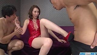 Asian wife aya kisaki loves to fuck threesome